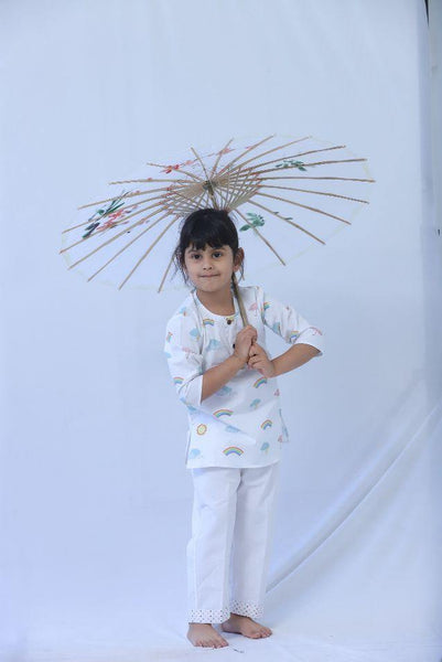 Kids Kurta Pyjama : Weather Print - indieprojectstore