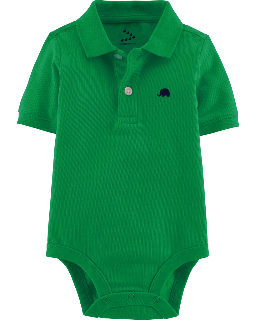 Piqué Polo Onesie - Green - Indie Project Store