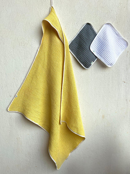 HOODED TOWEL SET (Yellow)