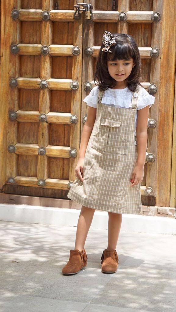 Plaid Jane Bib Dress