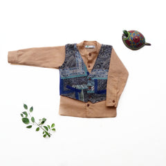 Summer Time Blues Set (Shirt & Waist Coat) - indieprojectstore