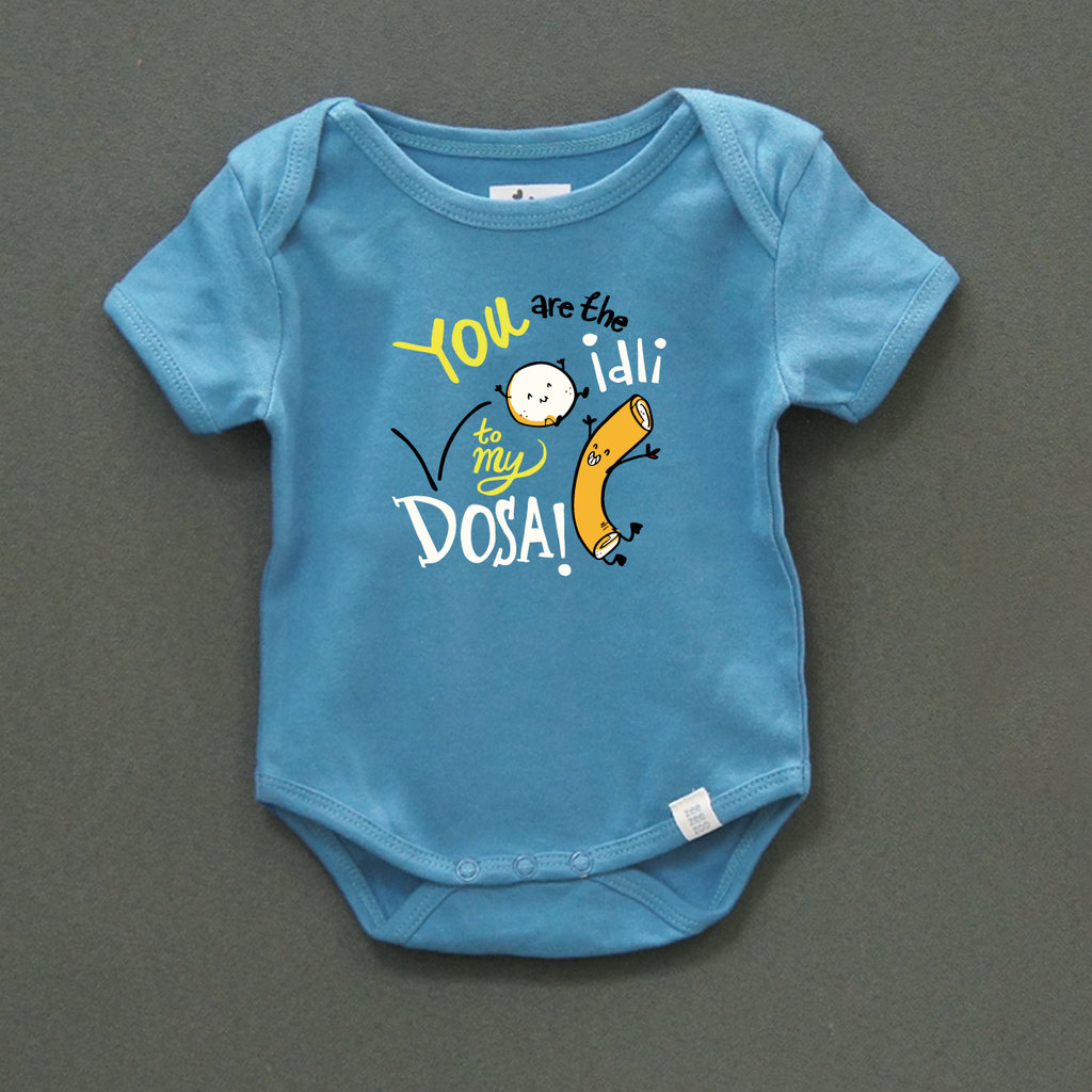 Pure Cotton Navy Blue Top for your Kids - Boys Clothing Online - You Are Idli To My Dosa