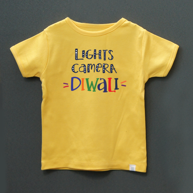 Lights camera diwali t-shirt - indieprojectstore