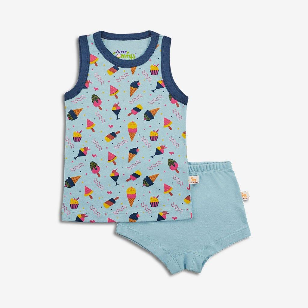 SuperBottoms  Organic Cotton Comfort Wear for Kids (Icy Treats) - Indie Project Store