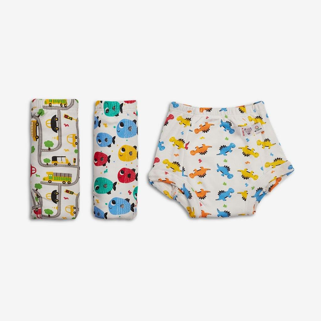 Superbottoms Padded Underwear - Semi waterproof pull up Underwear/Potty Training Pants (Pack of 3) - Indie Project Store