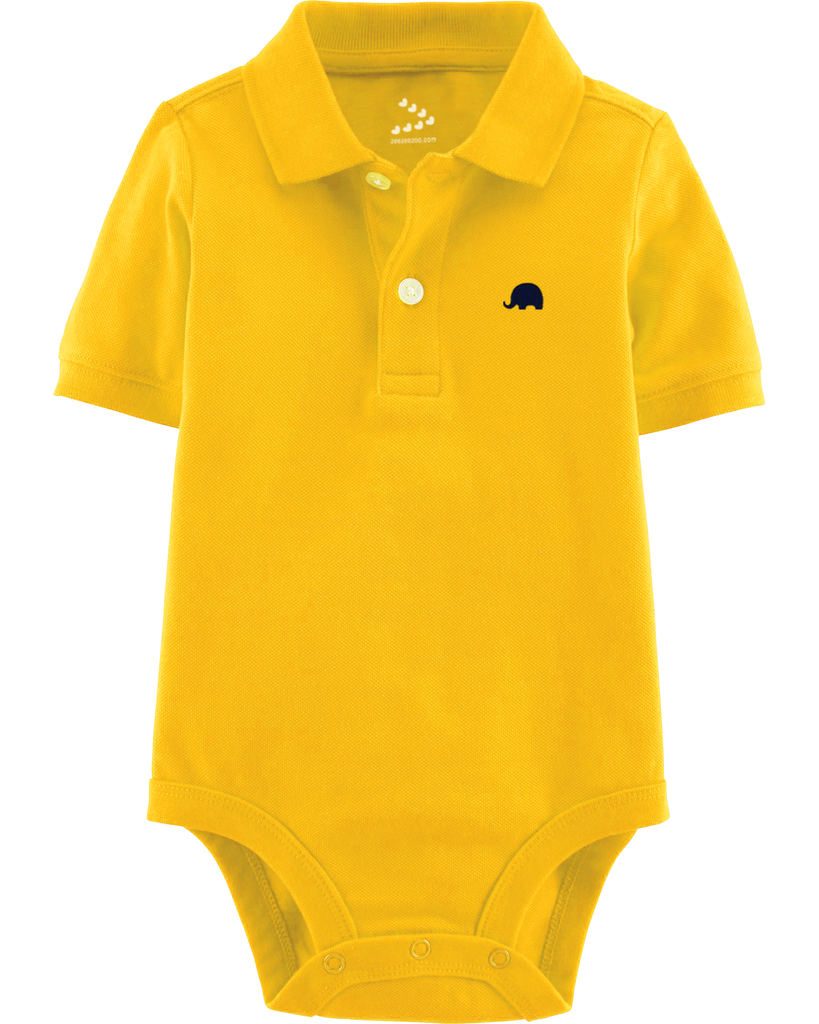 Piqué Polo Onesie - Yellow - Indie Project Store