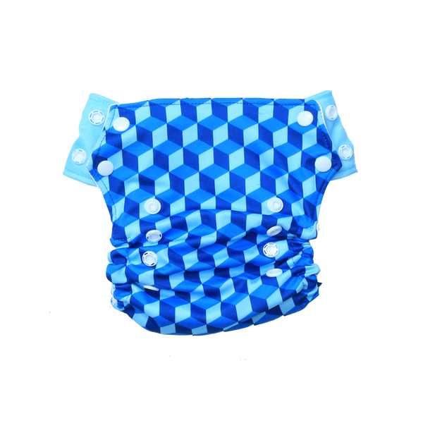 Innate AIO Cloth Diaper -Building Blocks of Life | Blue - indieprojectstore