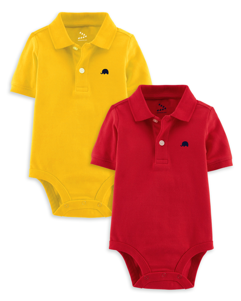 Piqué Polo Onesie - Set of 2