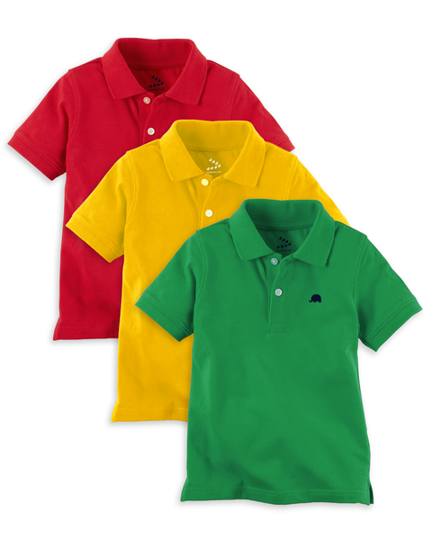 Piqué Polo Tees - Set of 3
