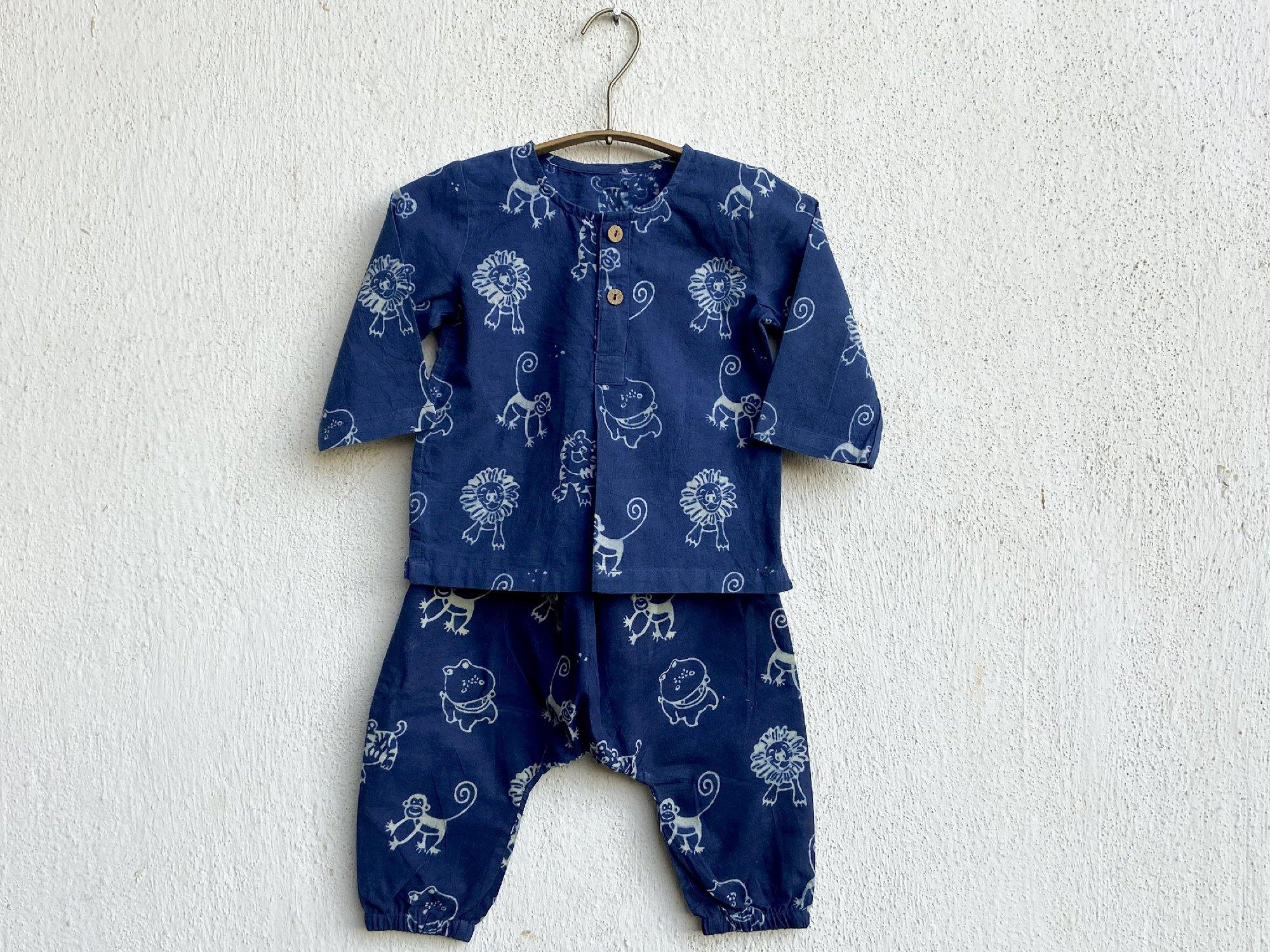 Zoo Print Kurta With Matching Pyjama For Babies - Infant Clothing Online