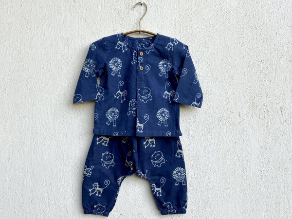 ZOO PRINT KURTA WITH MATCHING PAJAMA
