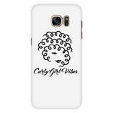 Curly Girl Vibe Phone Case (White)