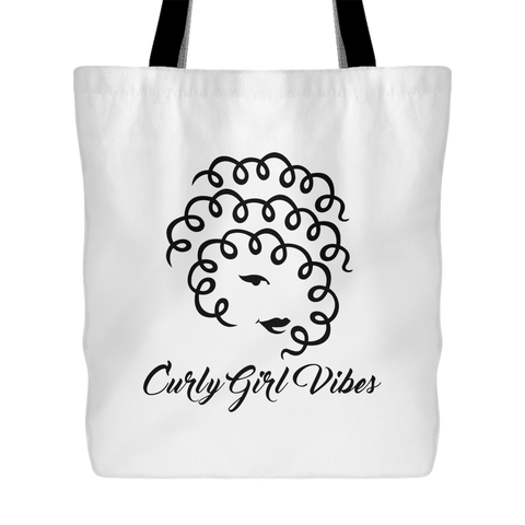 Curly Girl Vibes Tote Bag