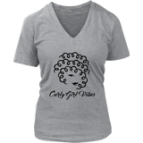 Ladies V neck (Black Logo)