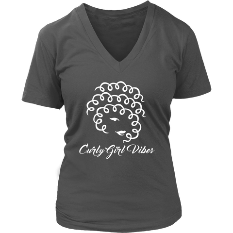 Ladies V neck (White Logo)