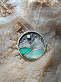 Night Mountain Landscape Pendant