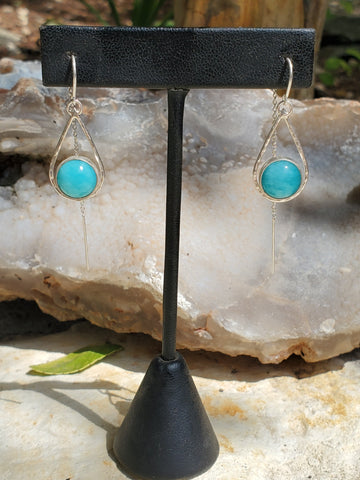 Amazonite Threader Earrings