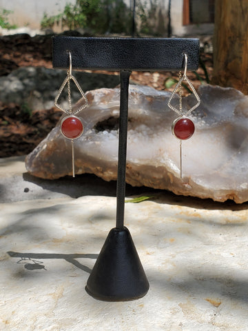 Carnelian Threader Earrings