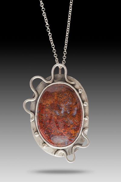 Red Moss Agate Pendant