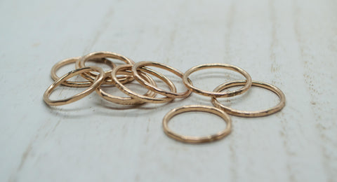 14k Yellow GF Rings