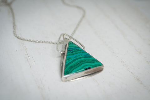 Malachite with Chrysocolla Pendant