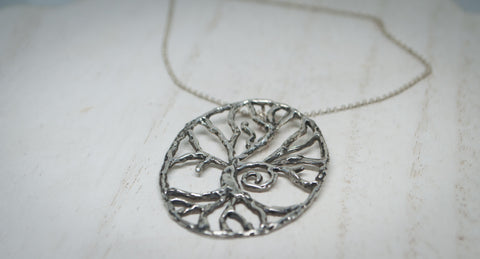 Tree of Life Pendant with Spiral