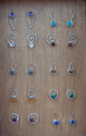 GF Wave Gemstone Studs