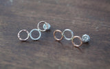Triple Circle Stud Earrings