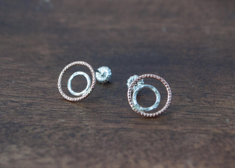 Double Circle Studs