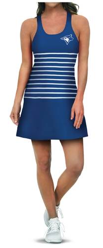 Engineered Striped Dress