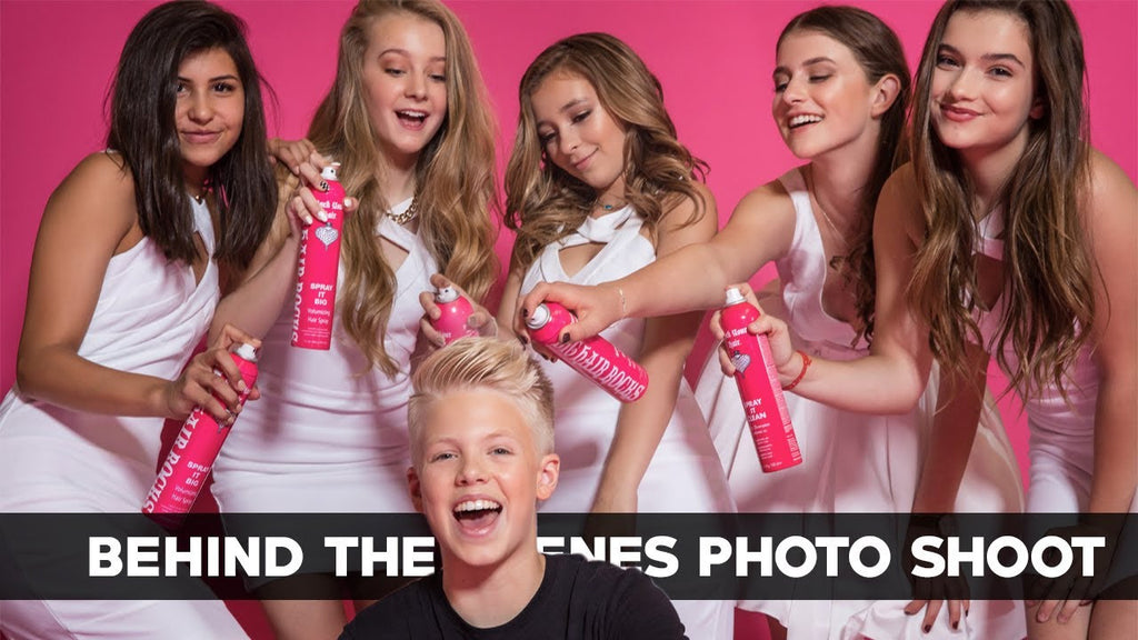 Behind the Scenes Photo Shoot with Carson, Annie, Hayden, Brooke & Dani