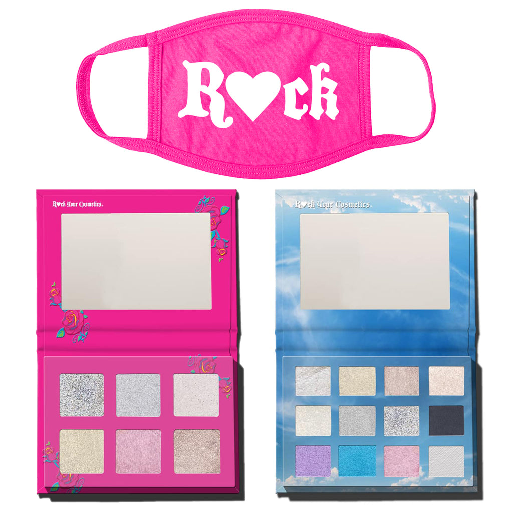 Rock Angel & Roses Palette Combo Set W/ Free Rock Mask
