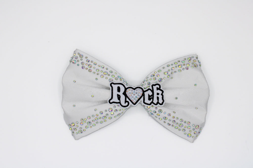 White Satin Hand Sewn Signature R💖CK Bow