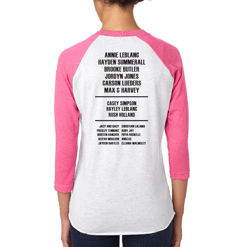 Rock Back-to-School 2017 Vintage Baseball Tee (Pink)