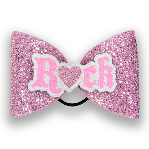 ROCK Sparkle Bow (Light Pink)