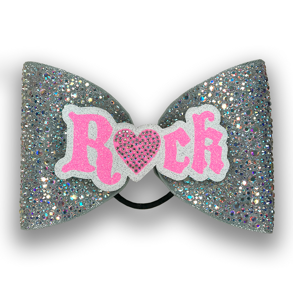 ROCK Sparkle Bow (Silver)