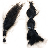 Horse tail hair dark brown