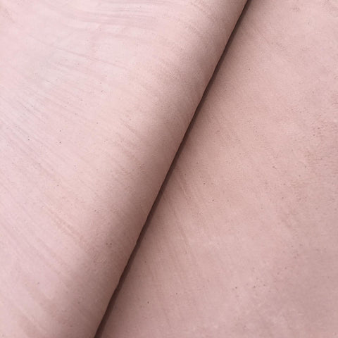 Light pink Italian goat suede with scrath effect