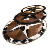 Christmas tree skirt - Hair on cowhide - 3.5 feet in diameter