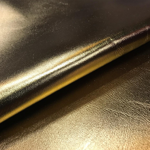 Gold metallic foil Italian leather