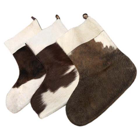 Christmas stocking - Hair on cowhide