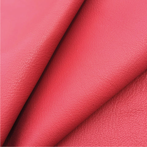 Red Italian goat leather