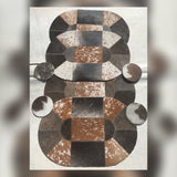Cowhide placemats and coasters