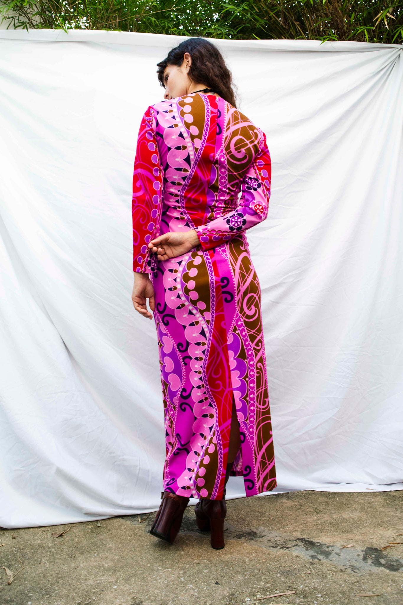 Coolest, Vintage Psychedelic Maxi Dress