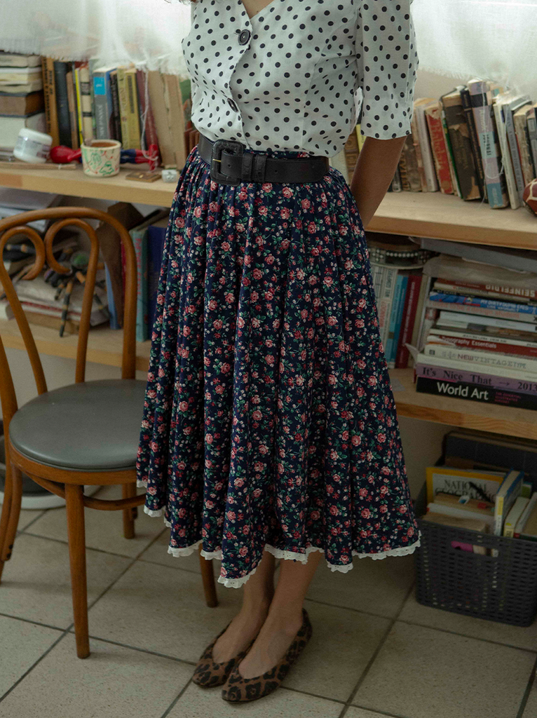 Vintage prairie full circle skirt