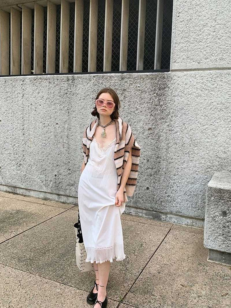 Vintage Ivory Romantic Dress