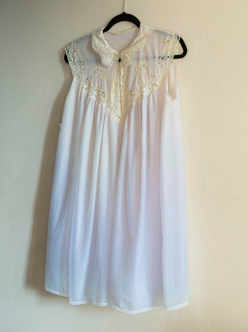 Romantic 50's-60's light blue night gown