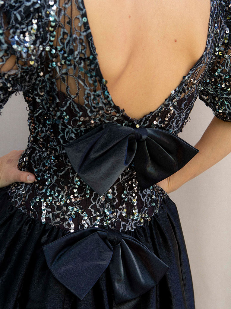 Fun 1980's black party dress
