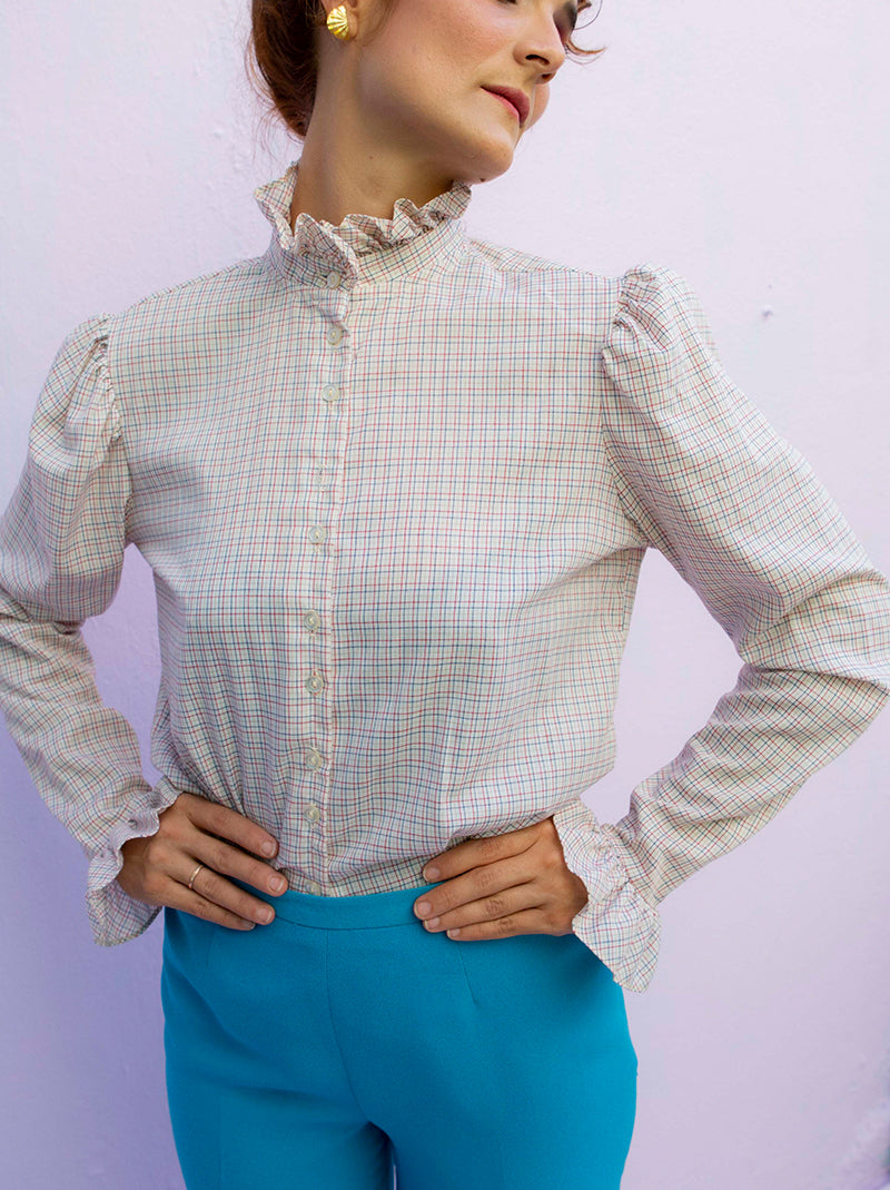 Vintage victoria-era style button up blouse johnny y june