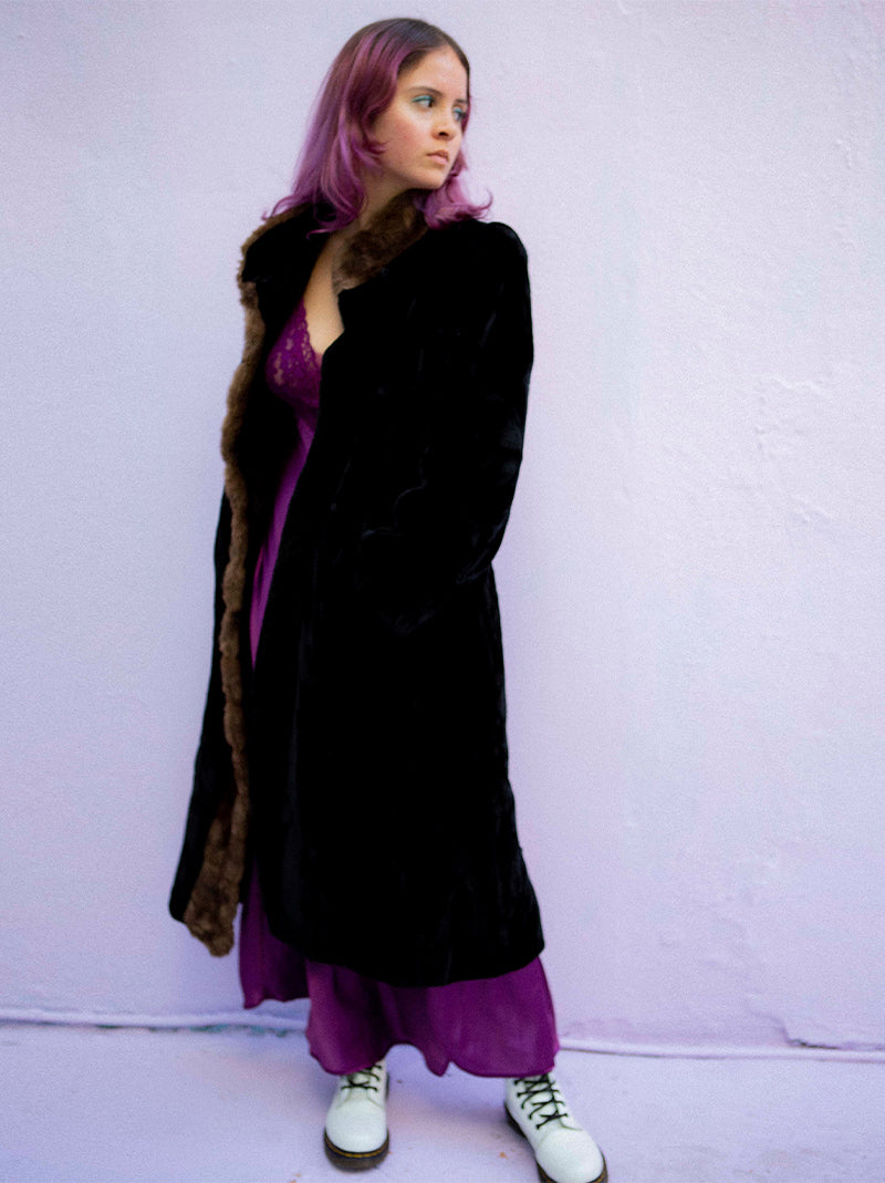 Late 70s faux fur Borgozia coat